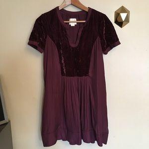 Maeve Anthropologie Velvet Ingrid Tunic Dress SP
